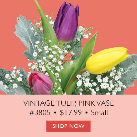 Vintage Tulip Small, Pink