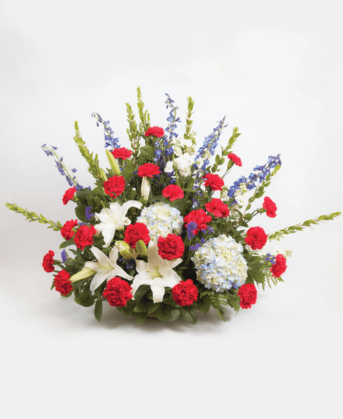 Patriotic Remembrance Basket #490