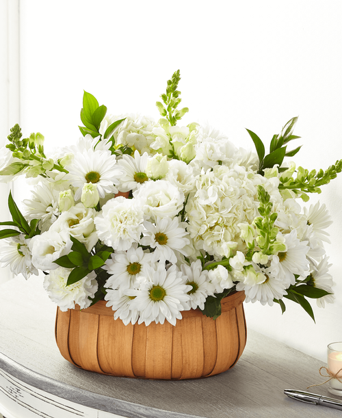 FTD Pure Ivory Basket - Deluxe