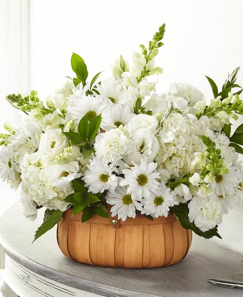 FTD Pure Ivory Basket - Premium