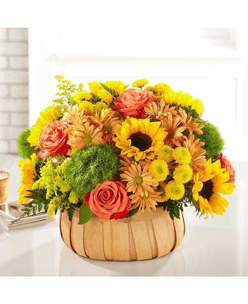 FTD Harvest Sunflower Basket - Deluxe