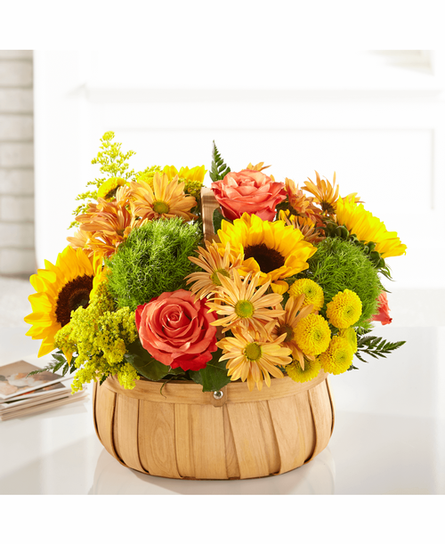 FTD Harvest Sunflower Basket